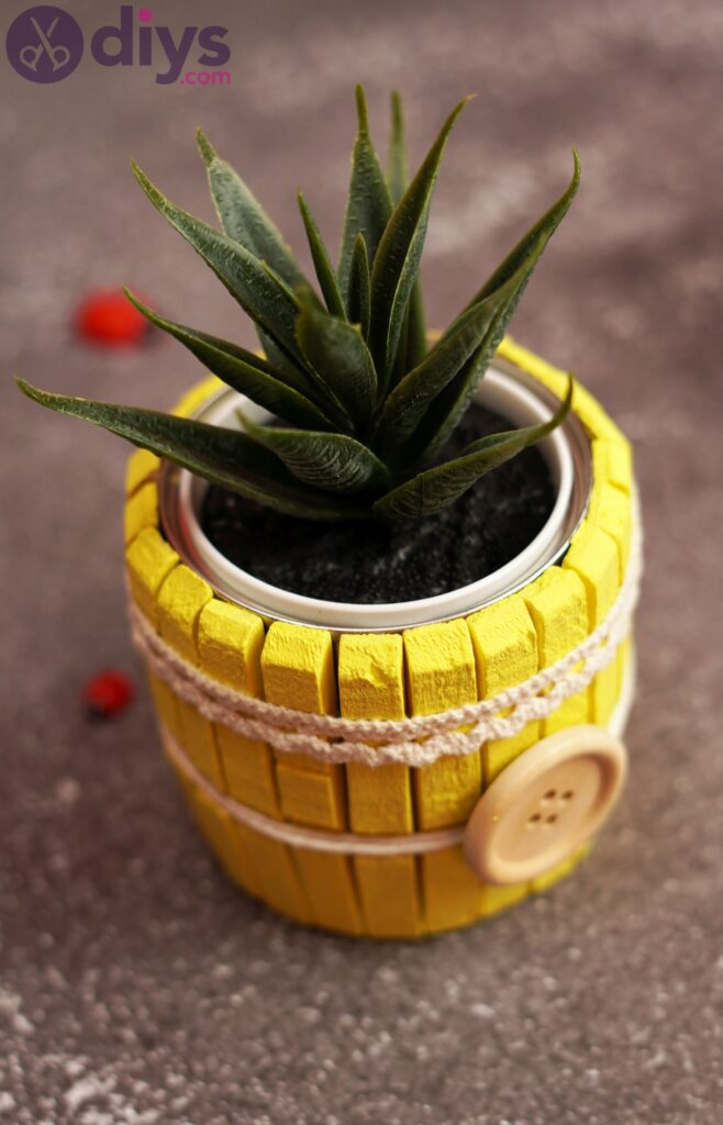 DIY Clothespin Pot – The Cutest Pot for Your Succulents