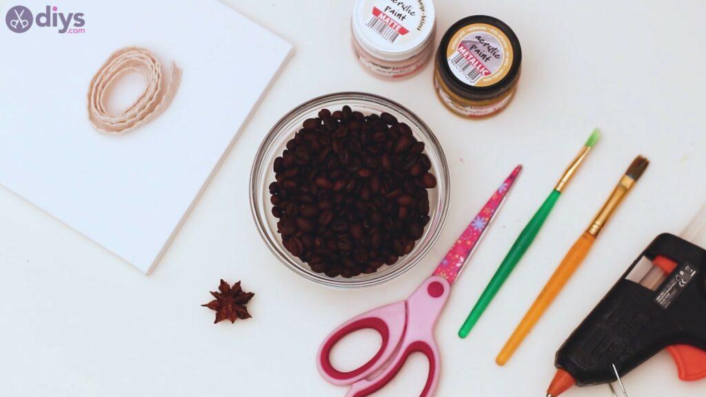 Coffee beans art materials