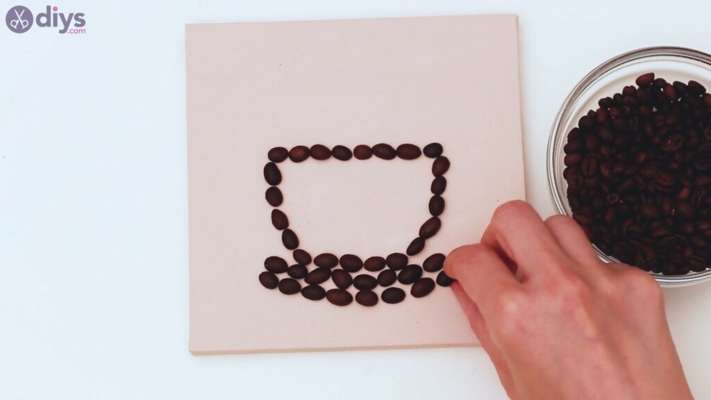 Coffee beans art steps (13)