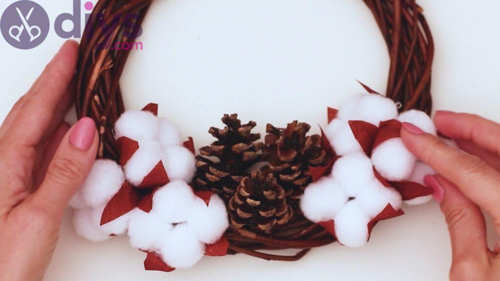 Cotton flower wreath steps (28)