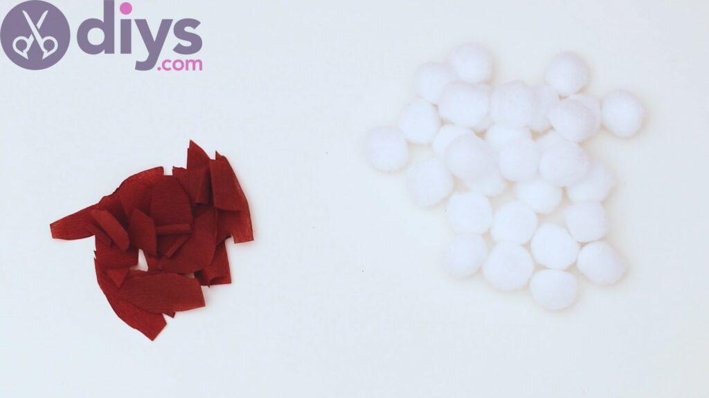 Cotton flower wreath steps (4)
