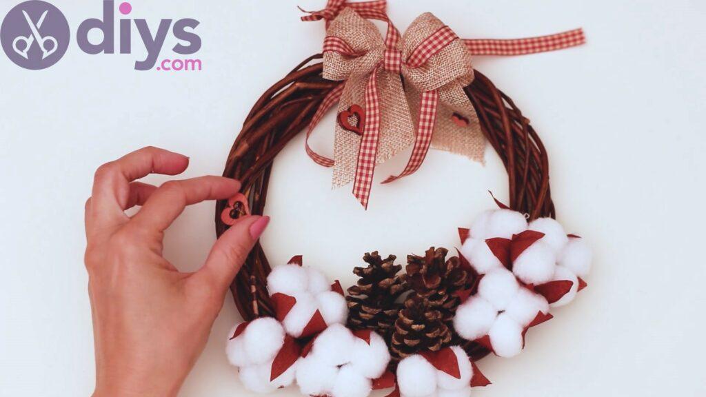 Cotton flower wreath steps (43)