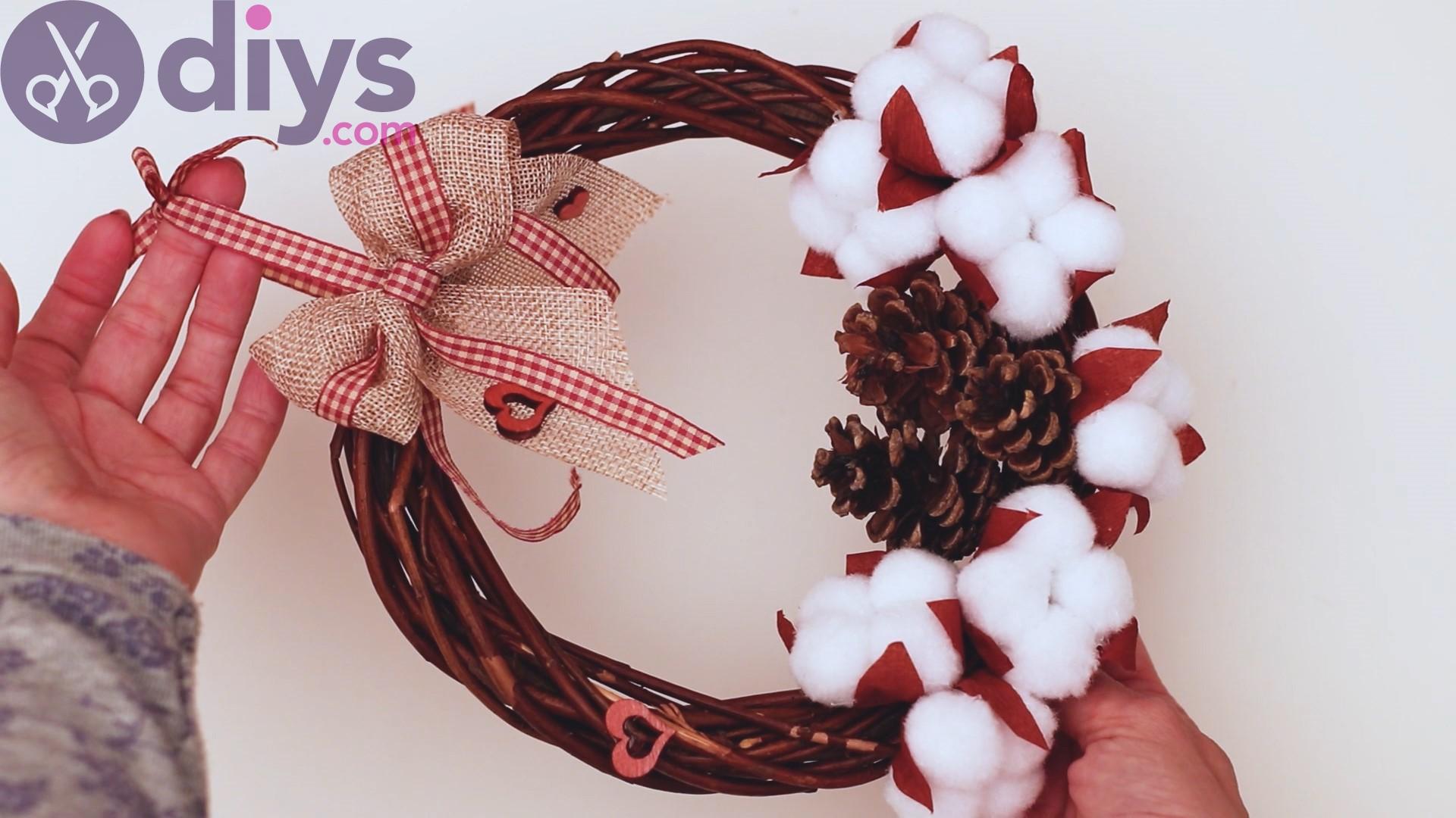 Cotton flower wreath steps (44)