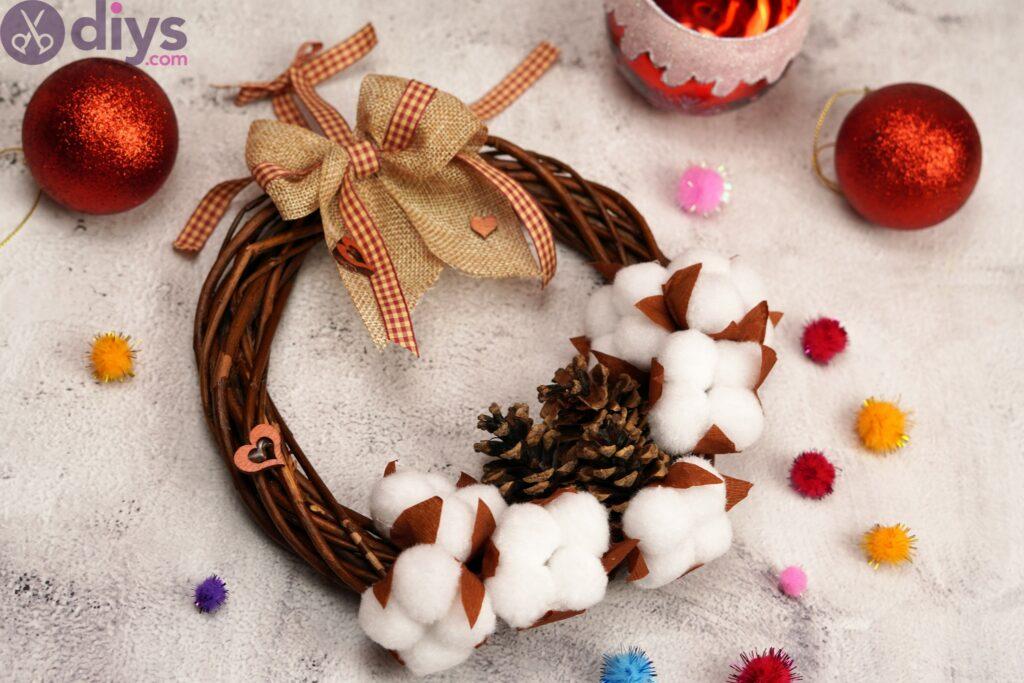 Cotton flower wreath pics (2)