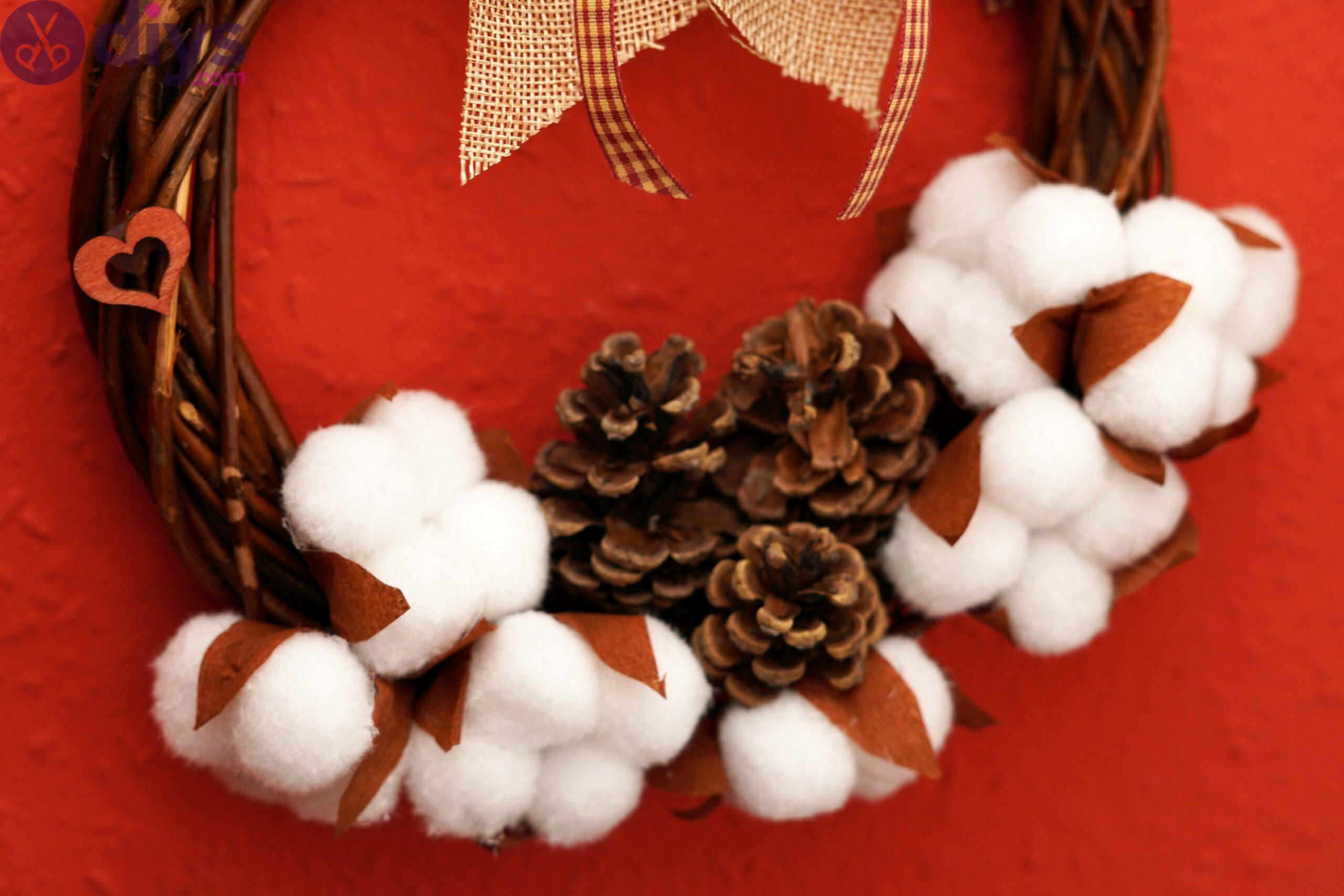 Cotton flower wreath pics (8)