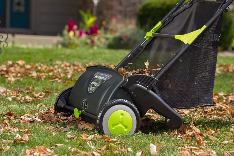 Earthwise lsw70021 21 inch leaf & grass push lawn sweeper