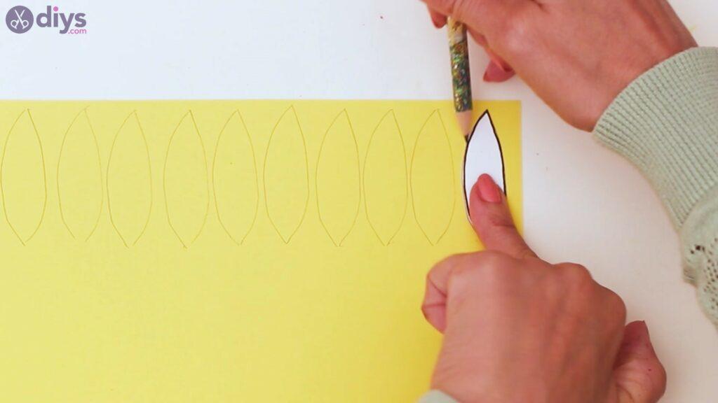 Fall sunflower wall art steps (11)