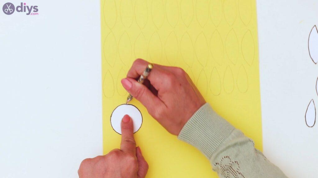 Fall sunflower wall art steps (16)