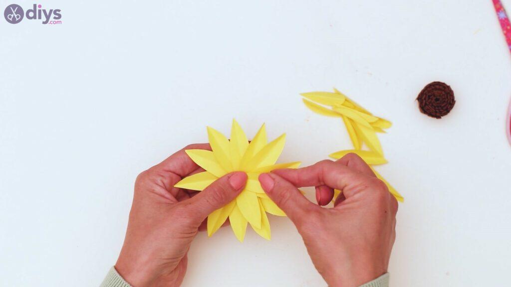 Fall sunflower wall art steps (44)