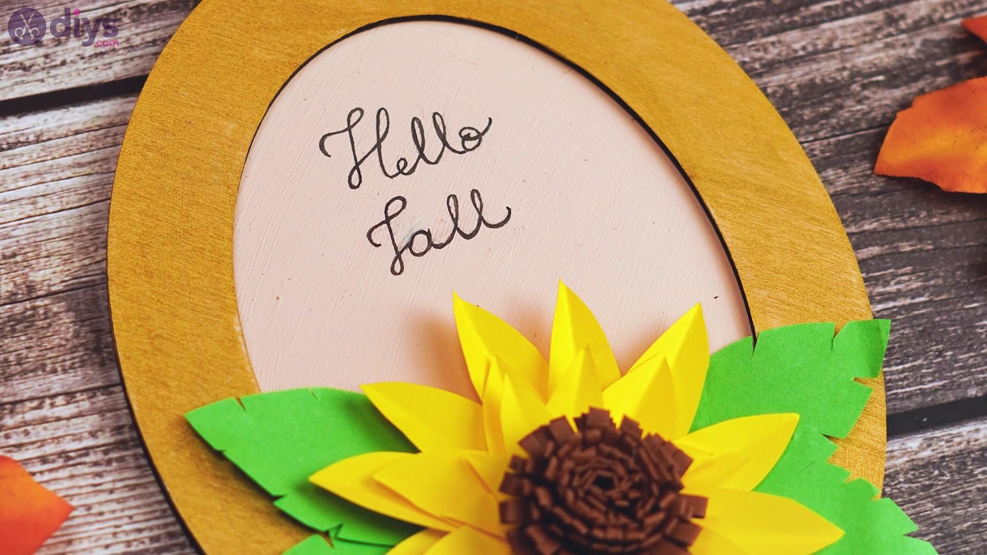 Fall sunflower wall art steps (74)