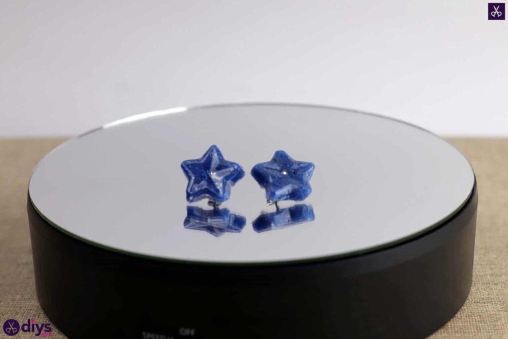 Hot glue earrings