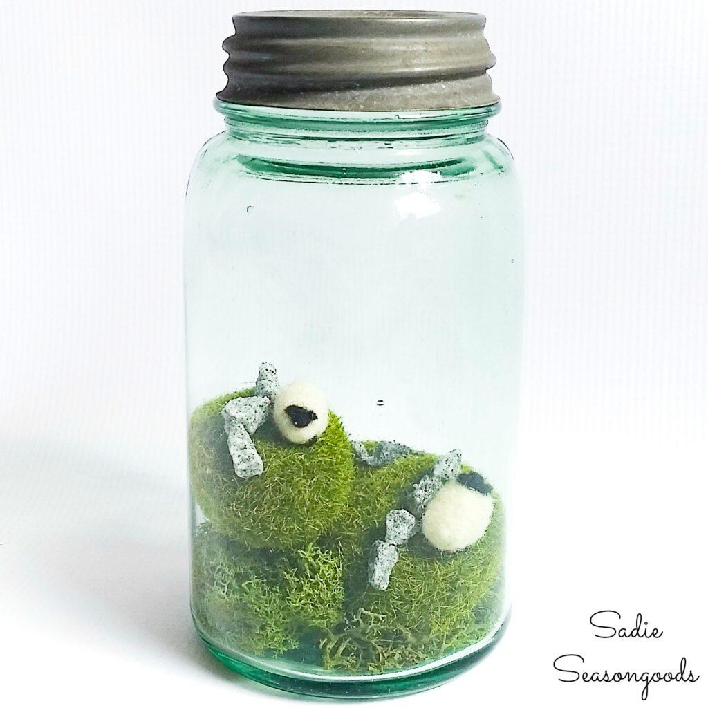 Irish home decor in a green jar