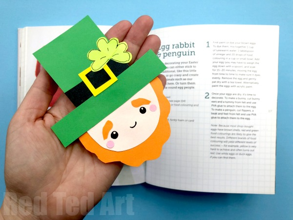 Leprechaun corner bookmark