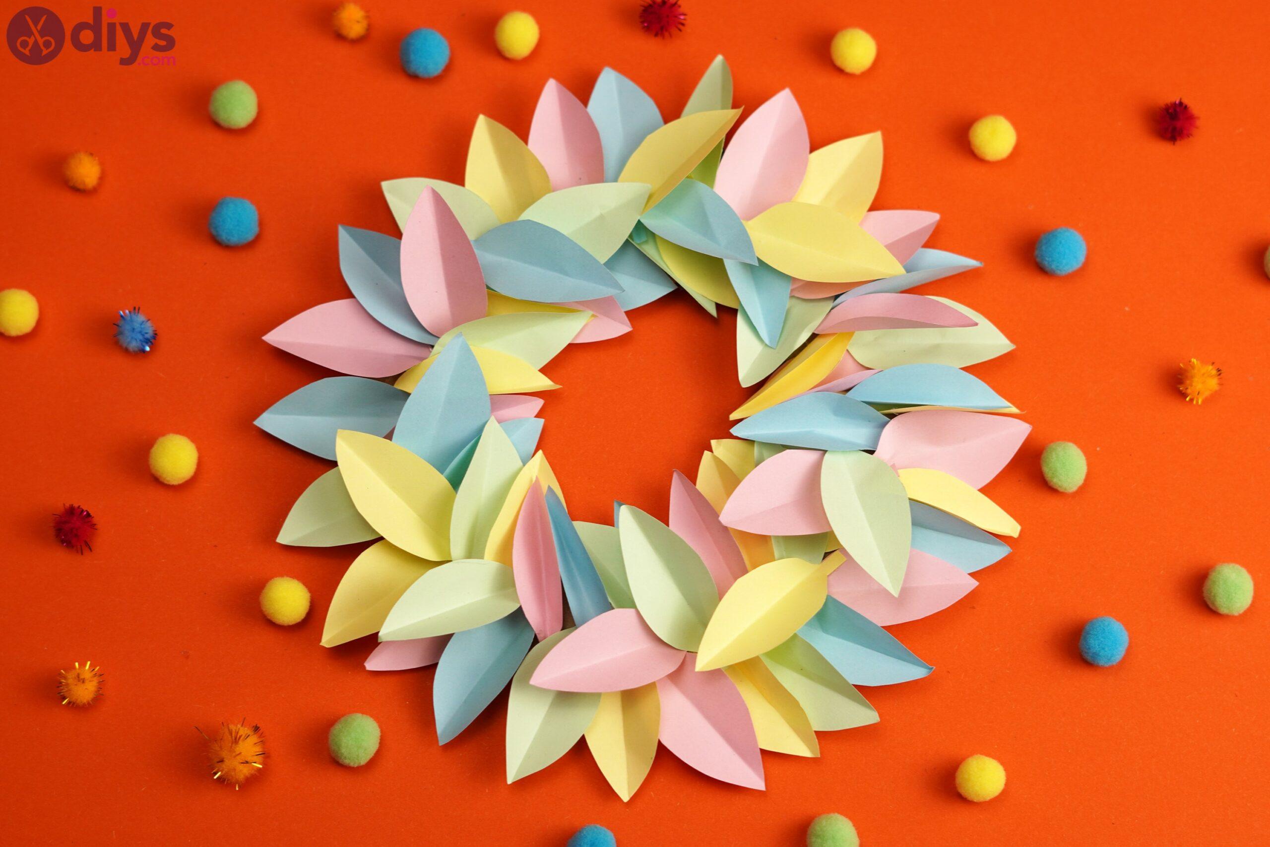 Paper flower wreath (3)