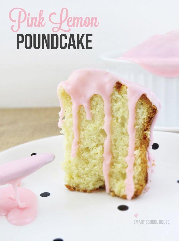 Pink lemon poundcake