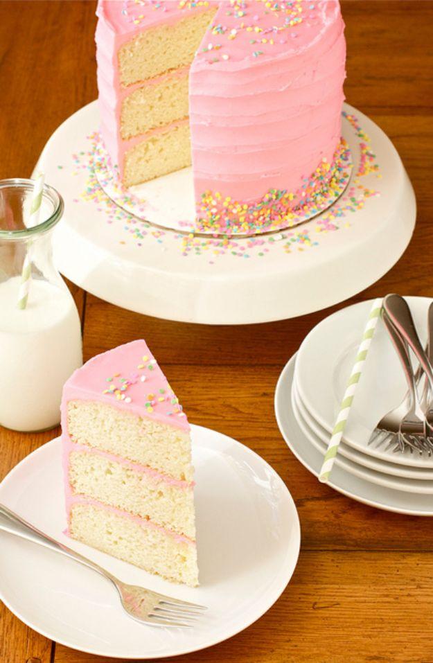 Pink vanilla bean cake