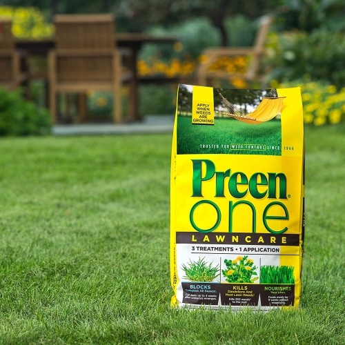 Preen 2164169 one lawncare weed & feed covers