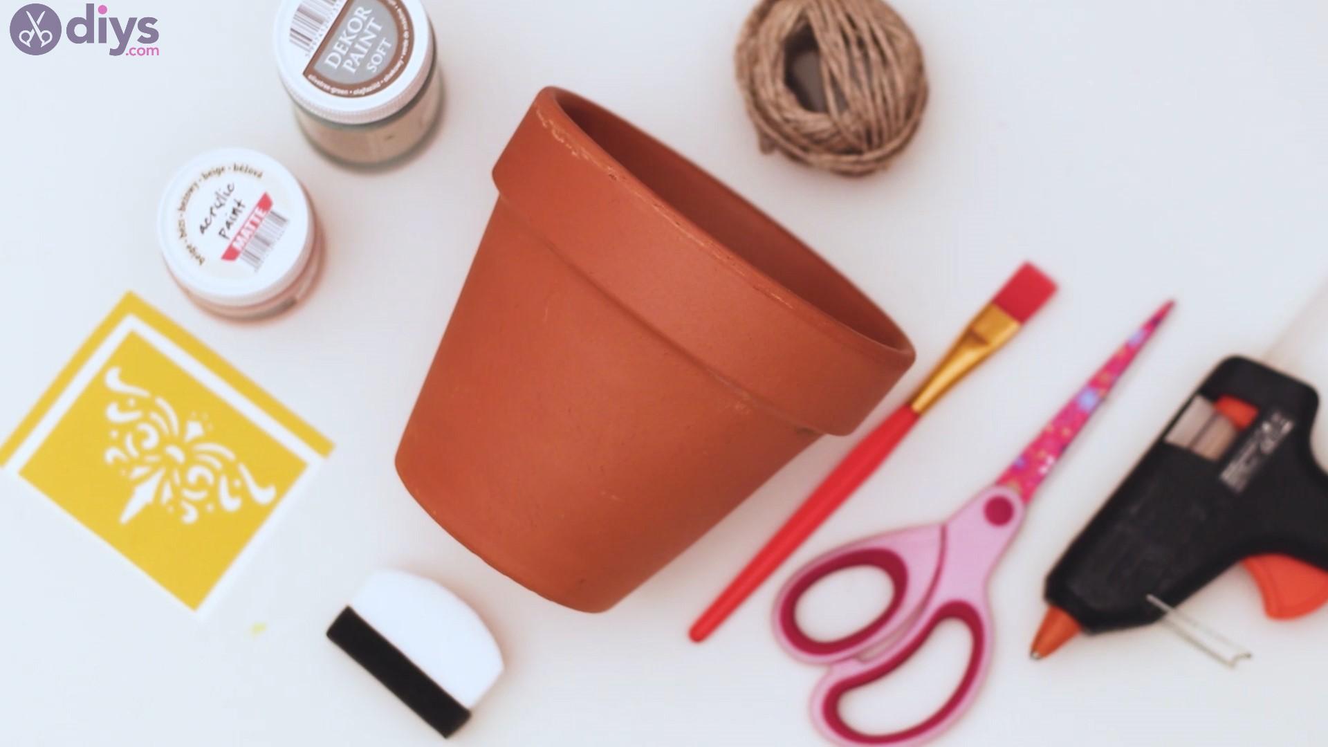 Rustic painted pot materials