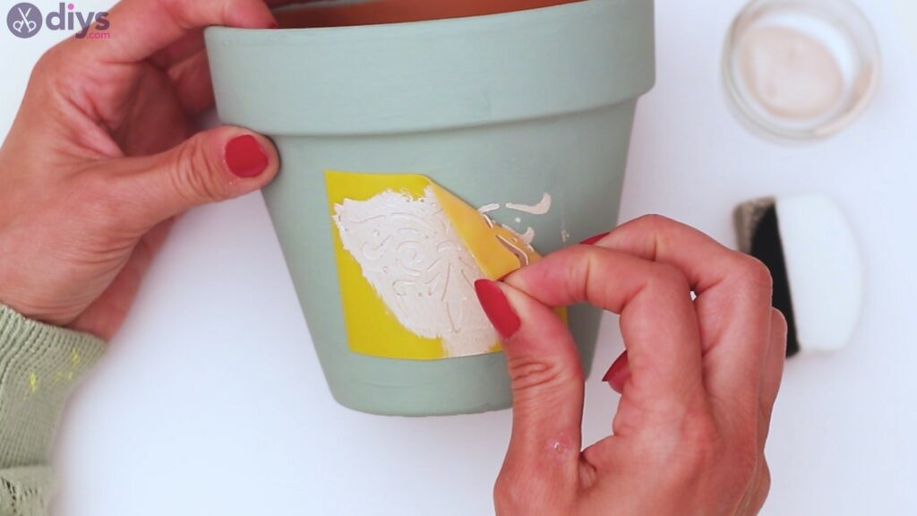 Rustic painted pot steps (13)