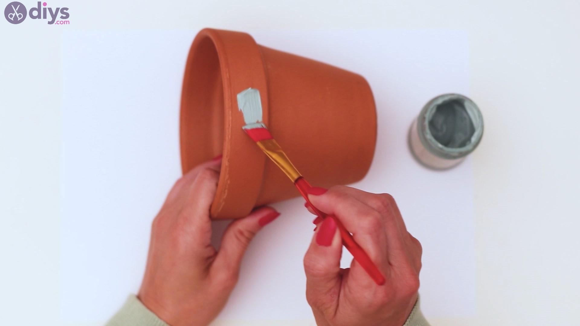 Rustic painted pot steps (2)