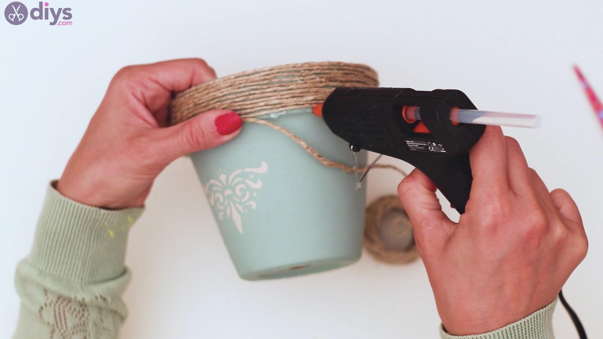Rustic painted pot steps (28)