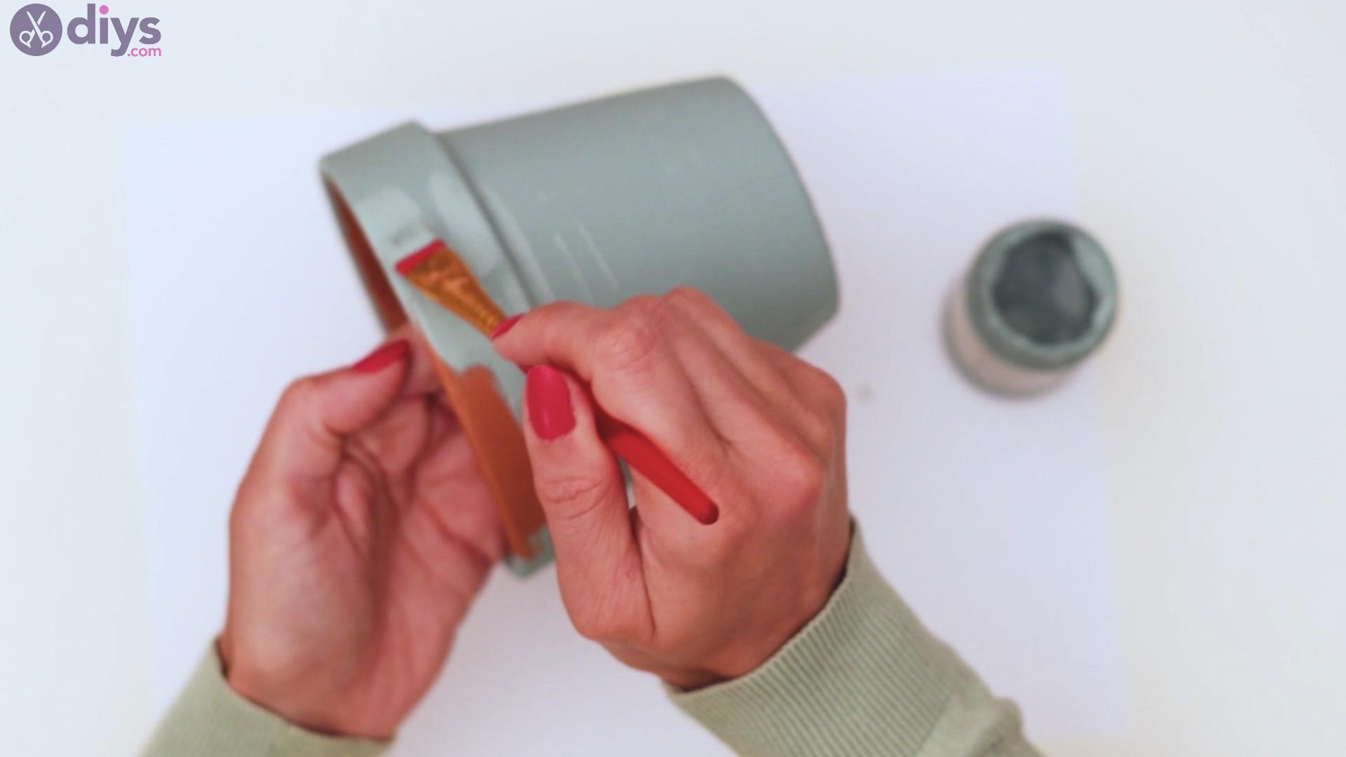 Rustic painted pot steps (4)