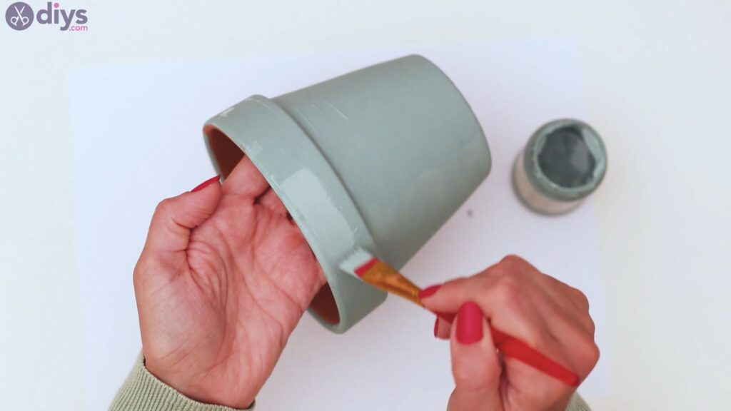 Rustic painted pot steps (5)
