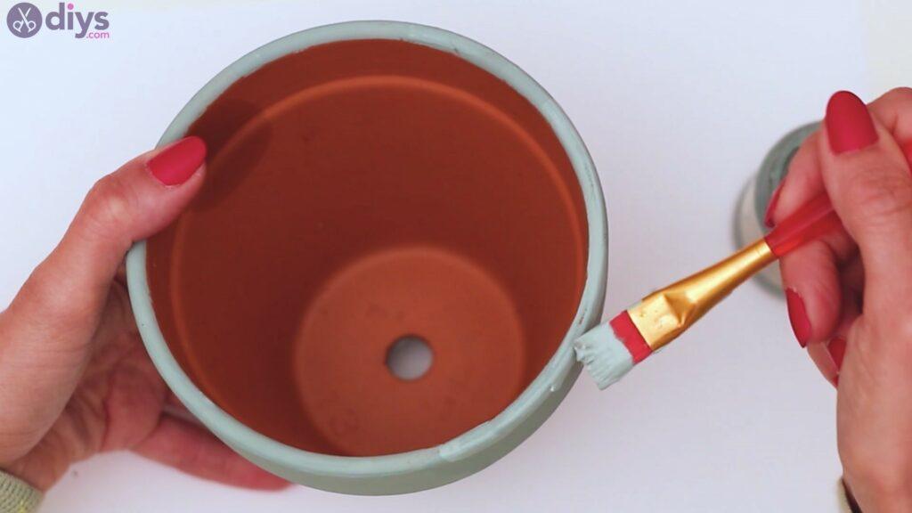 Rustic painted pot steps (6)