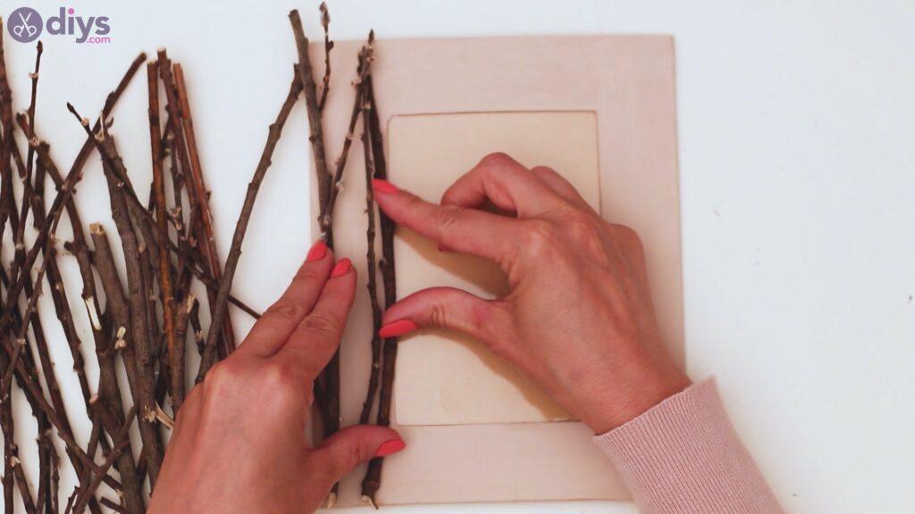 Rustic twig frame steps (11)