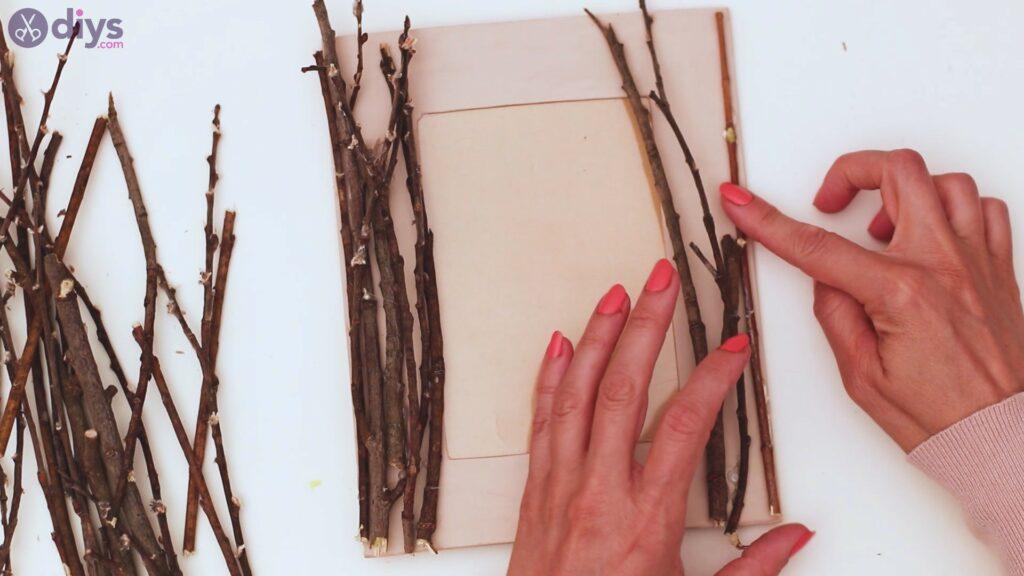Rustic twig frame steps (15)