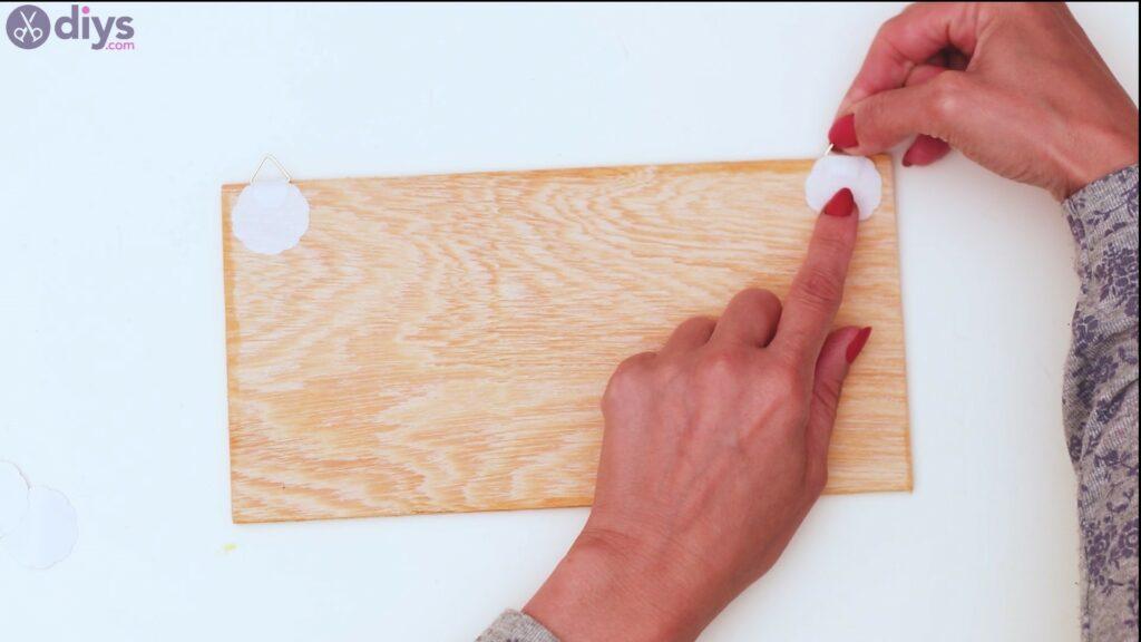 Rustic wooden memo board steps (16)