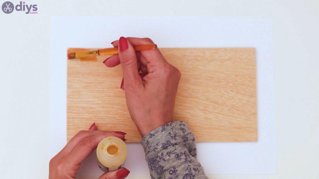 Rustic wooden memo board steps (2)