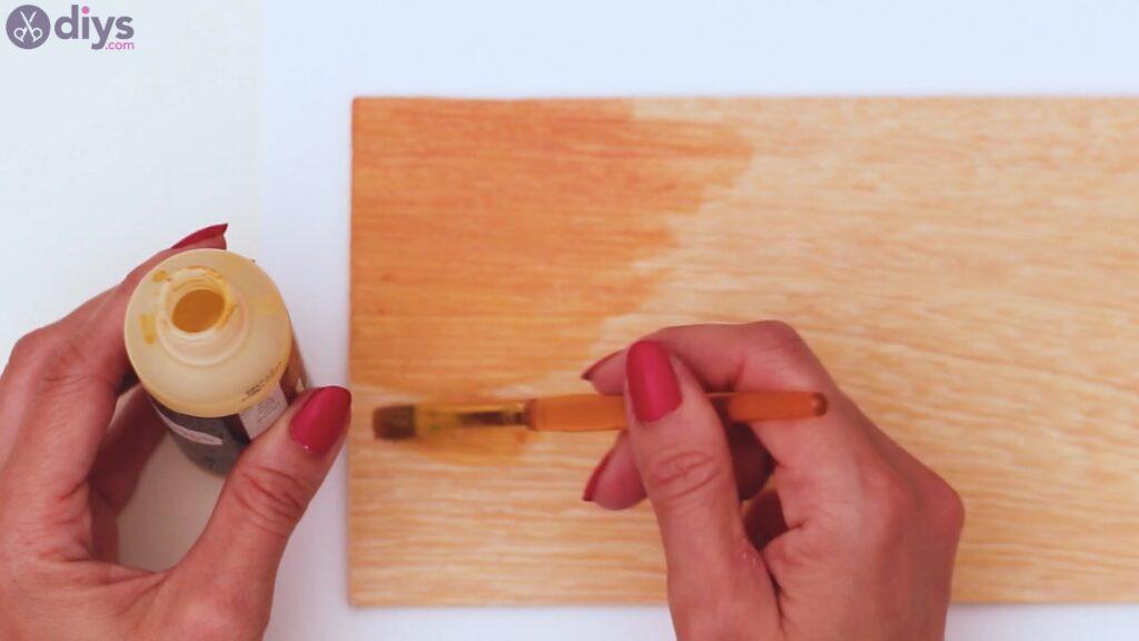 Rustic wooden memo board steps (3)