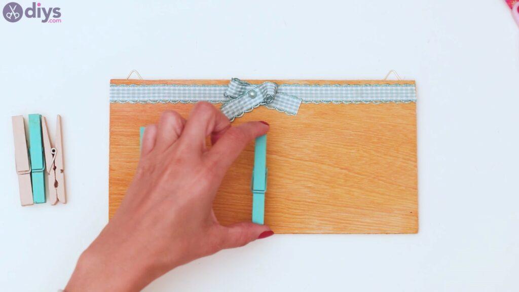 Rustic wooden memo board steps (35)