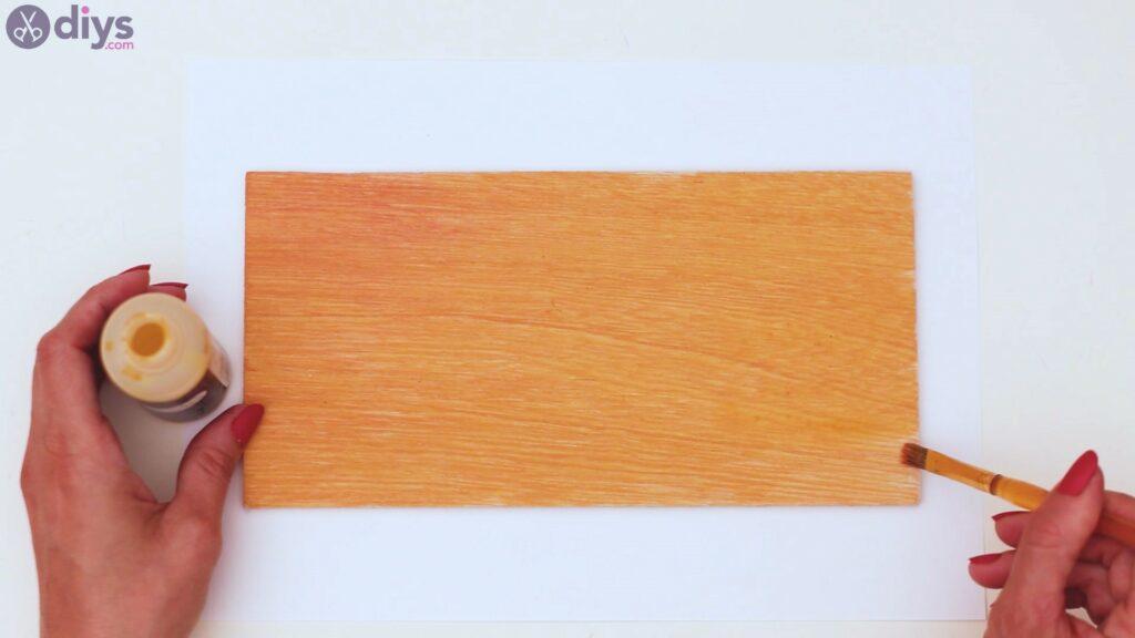 Rustic wooden memo board steps (4)