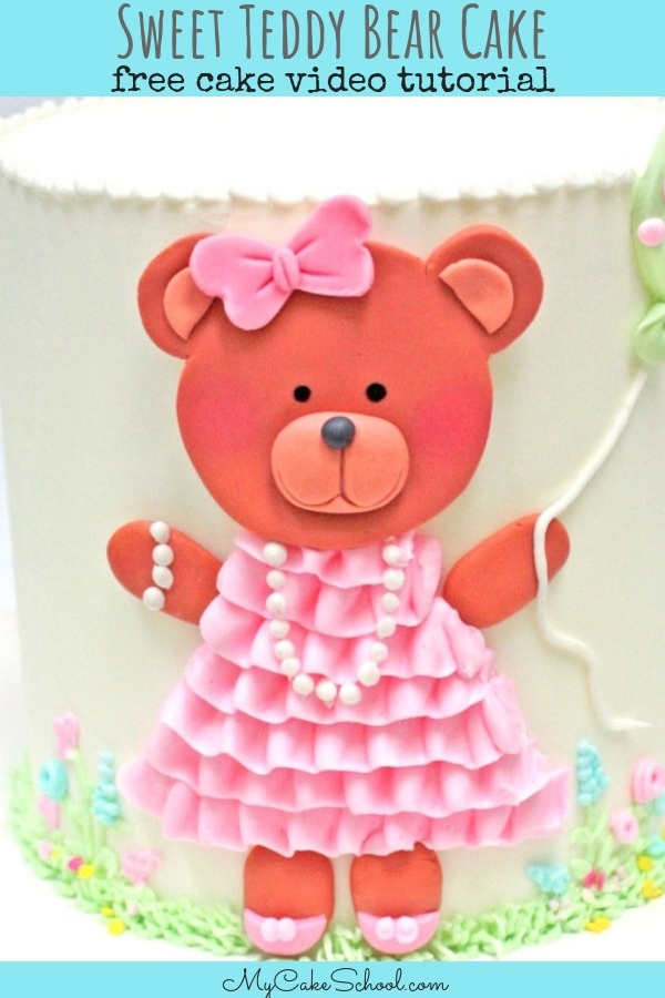 Sweet teddy bear cake