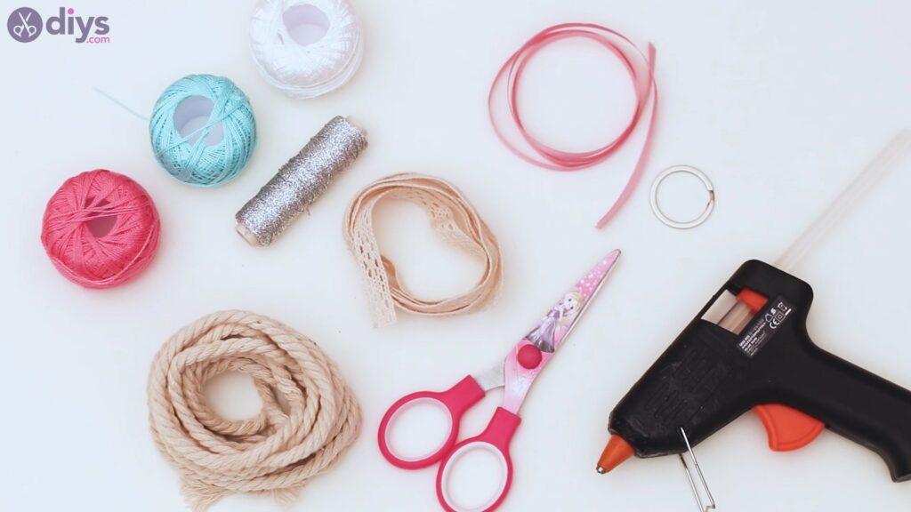 Textile keyring materials