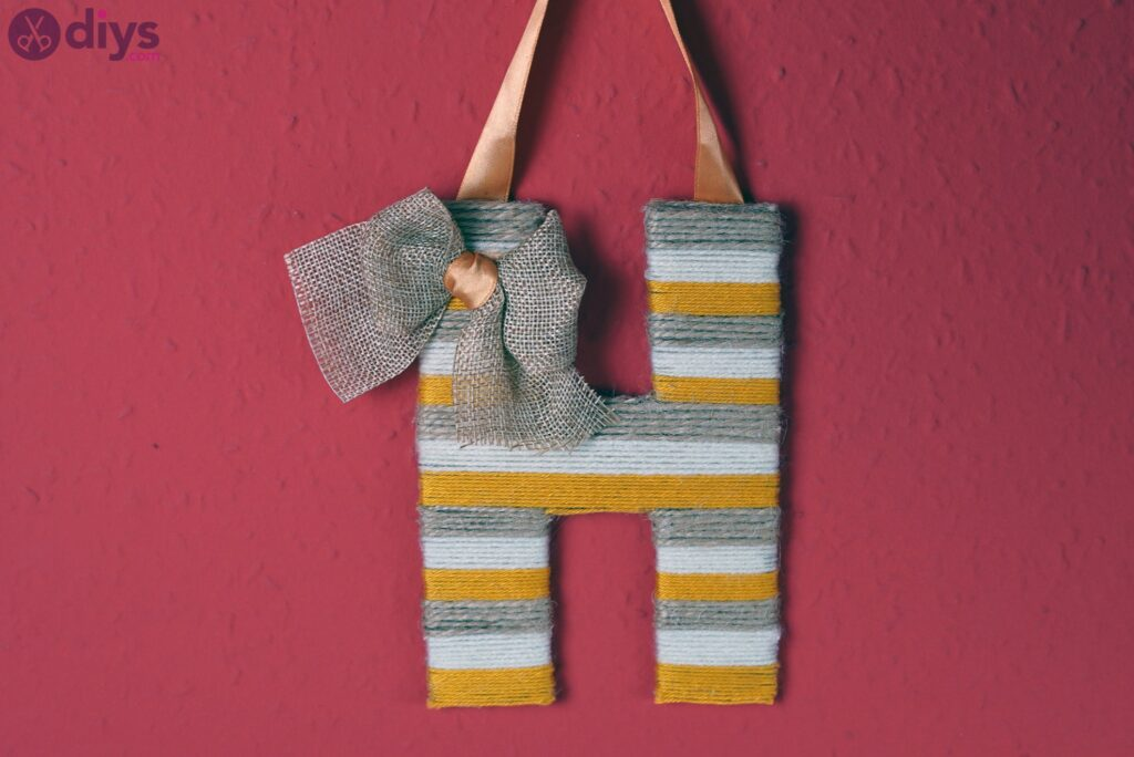 Yarn letter wall hanging