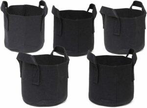 247Garden 5-Pack 1 Gallon Grow Bags