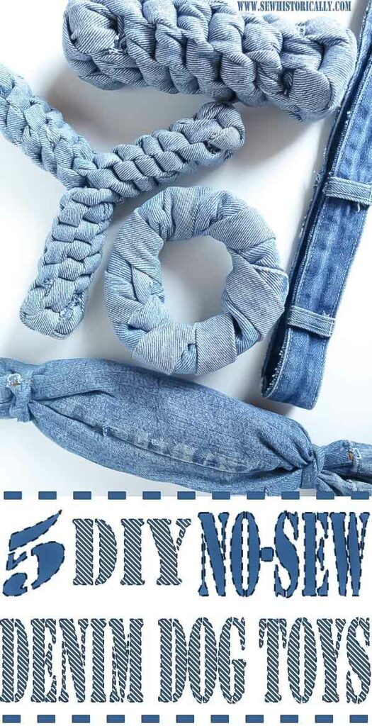 5 diy no sew recycled denim dog toys 4