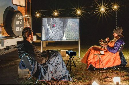 Elite screens yard master 2, 120 inch outdoor indoor projector screen