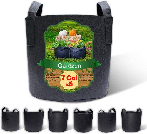 Gardzen 6 pack 7 gallon grow bags