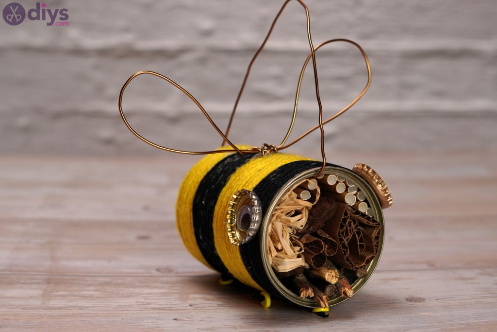 DIY Tin Bee Hotel