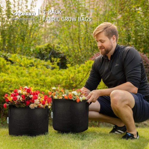 Vivosun 5 pack 5 gallon grow bags