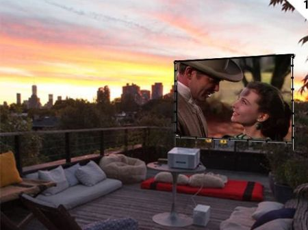 Vamvo outdoor indoor projector screen with stand