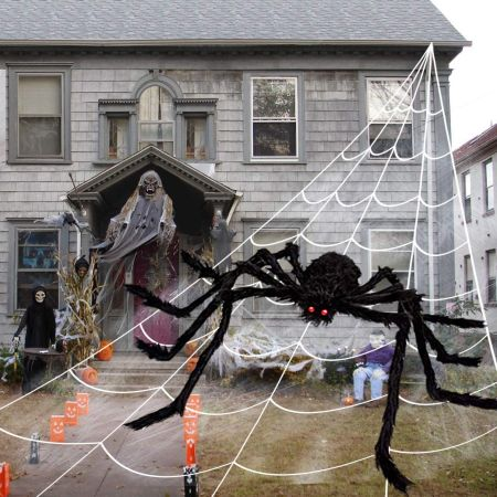 Cheerin outdoor halloween decorations scary spider decorations