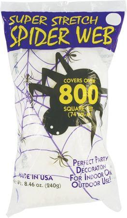 Fun world super stretch spider web for halloween indoor outdoor decoration