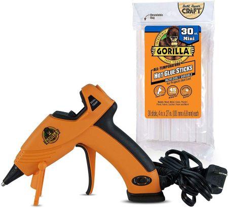 Gorilla temp mini hot glue gun kit