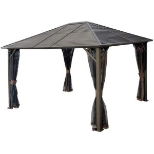 Kozyard 10ftx12ft' polycarbonate top aluminum permanent gazebo