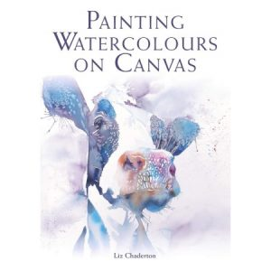 Painting watercolor on canvas